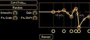 Editable filter response curves.