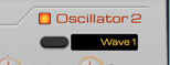 Oscillator 2 enable button